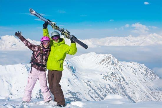 para narciarzy w górach